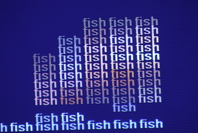 Fish in words, detail